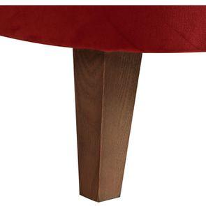 Fauteuil crapaud en tissu velours rouille - Victor