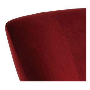 Fauteuil crapaud en tissu velours lie de vin - Victor - Visuel n°8
