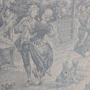 Fauteuil crapaud en tissu toile de Jouy - Victor