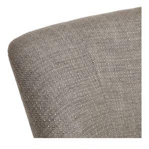 Fauteuil crapaud en hévéa blanc et tissu losange gris - Victor - Visuel n°8