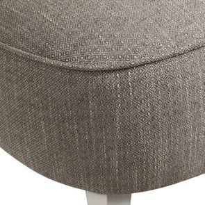 Fauteuil crapaud en hévéa blanc et tissu losange gris - Victor - Visuel n°9
