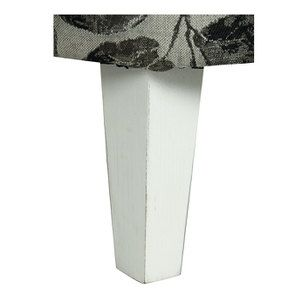 Fauteuil crapaud en hévéa blanc et tissu feuilles noires - Victor - Visuel n°6