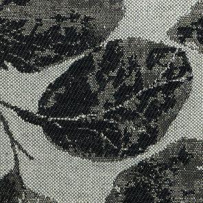 Fauteuil crapaud en hévéa blanc et tissu feuilles noires - Victor - Visuel n°7
