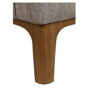 Fauteuil en tissu gris chambray - Sacha