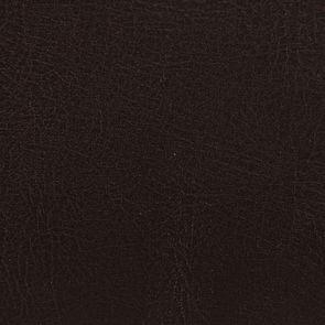 Fauteuil en hévéa noir et éco-cuir chocolat - Marceau