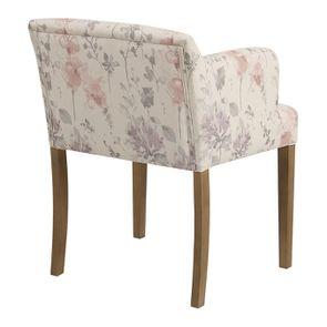 Fauteuil de table en tissu fleurs opaline - Marceau - Visuel n°3
