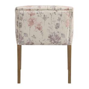 Fauteuil de table en tissu fleurs opaline - Marceau - Visuel n°4