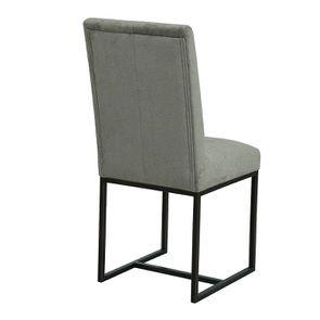 Chaise en velours taupe - Grace - Visuel n°10