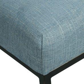Chaise en tissu bleu chambray – Grace - Visuel n°8