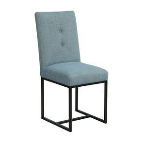Chaise en tissu bleu chambray – Grace - Visuel n°2