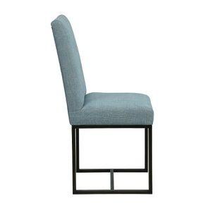 Chaise en tissu bleu chambray – Grace - Visuel n°3