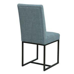 Chaise en tissu bleu chambray – Grace - Visuel n°4