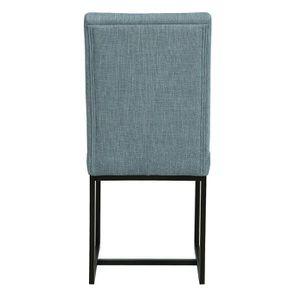 Chaise en tissu bleu chambray – Grace - Visuel n°5