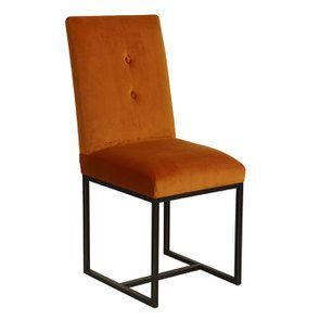 Chaise en velours safran - Grace - Visuel n°2