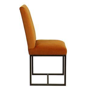 Chaise en velours safran - Grace - Visuel n°3