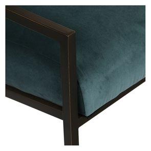 Fauteuil en métal et velours vert bleuté - Harry - Visuel n°9