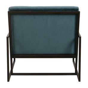 Fauteuil en métal et velours vert bleuté - Harry - Visuel n°6
