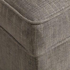 Banc coffre en tissu gris chambray - Gabriel - Visuel n°10