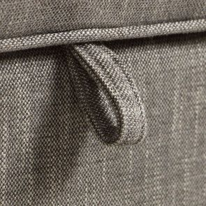 Banc coffre en tissu gris chambray - Gabriel - Visuel n°11