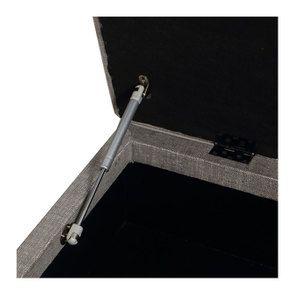 Banc coffre en tissu gris chambray - Gabriel - Visuel n°12