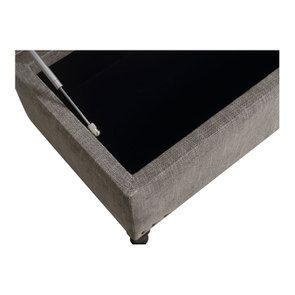 Banc coffre en tissu gris chambray - Gabriel - Visuel n°13