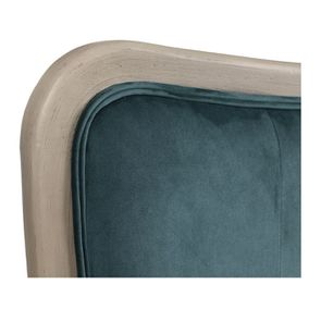 Tête de lit 180 cm en velours vert bleuté - Joséphine - Visuel n°6