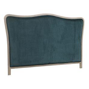 Tête de lit 180 cm en velours vert bleuté - Joséphine - Visuel n°2