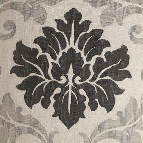 Chaise capitonnée en tissu arabesque et hévéa blanc - Judith - Visuel n°7