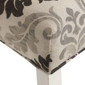 Chaise capitonnée en tissu arabesque et hévéa blanc - Judith - Visuel n°9