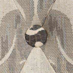 Chaise capitonnée en tissu arabesque et hévéa blanc - Judith - Visuel n°10