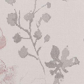 Chaise en hévéa massif et tissu fleurs opaline - Éléonore - Visuel n°2