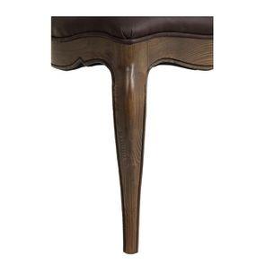 Chaise en frêne massif et éco-cuir chocolat - Éléonore - Visuel n°7