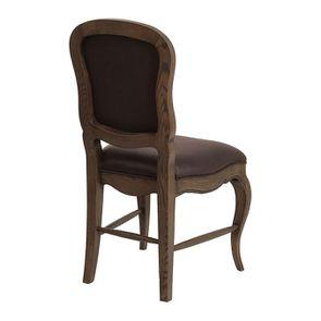 Chaise en frêne massif et éco-cuir chocolat - Éléonore - Visuel n°3