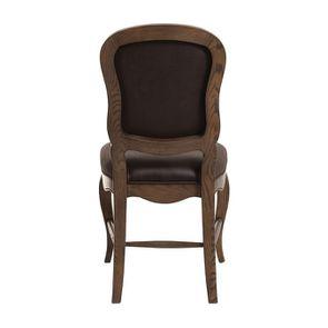 Chaise en frêne massif et éco-cuir chocolat - Éléonore - Visuel n°4