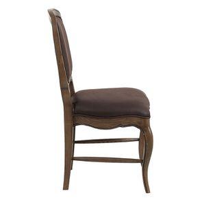 Chaise en frêne massif et éco-cuir chocolat - Éléonore - Visuel n°5