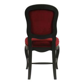 Chaise en velours lie de vin et hévéa massif noir - Eléonore - Visuel n°5