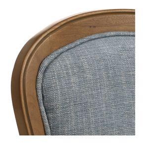 Chaise en tissu bleu chambray et frêne massif - Eléonore - Visuel n°15