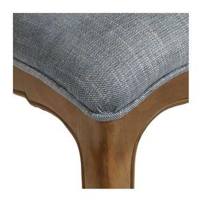 Chaise en tissu bleu chambray et frêne massif - Eléonore - Visuel n°17