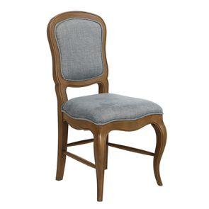 Chaise en tissu bleu chambray et frêne massif - Eléonore - Visuel n°3