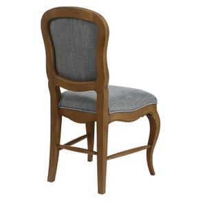 Chaise en tissu bleu chambray et frêne massif - Eléonore - Visuel n°7