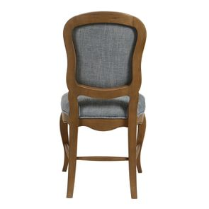 Chaise en tissu bleu chambray et frêne massif - Eléonore - Visuel n°9