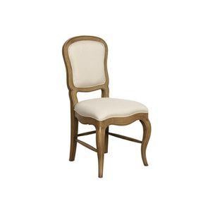 Chaise en tissu ficelle et hévéa massif - Éléonore - Visuel n°2
