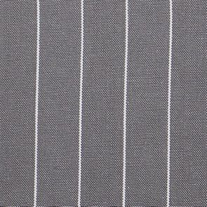 Chaise en tissu à rayures gris - Éléonore