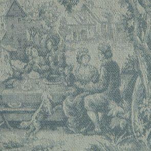 Méridienne droite en tissu toile de Jouy - Eugénie - Visuel n°7