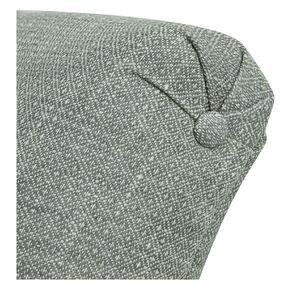 Méridienne droite en tissu losange gris - Eugénie - Visuel n°15