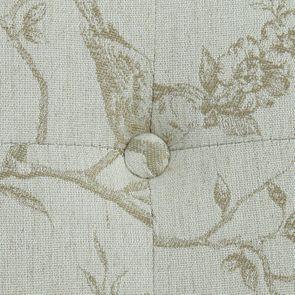 Méridienne droite en tissu paradisier - Eugénie - Visuel n°5