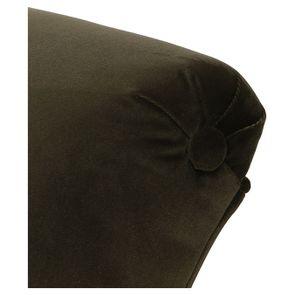 Méridienne droite en velours kaki et hévéa massif noir - Eugénie - Visuel n°8
