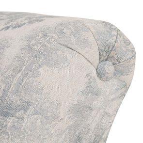 Méridienne droite en frêne massif et tissu toile de Jouy - Eugénie - Visuel n°8