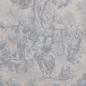 Méridienne droite en tissu toile de Jouy - Eugénie - Visuel n°6