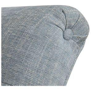 Méridienne droite en tissu bleu chambray - Eugénie - Visuel n°8